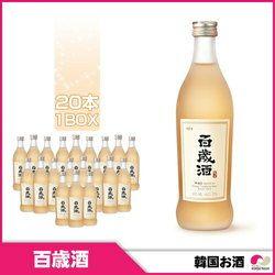 麹醇堂 百歳酒 375ml x 20本(1BOX) (13度)ワイン風味 韓国伝統酒 韓国お酒