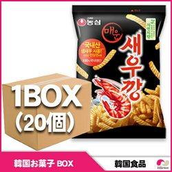 農心 えびせん(辛口) 辛いセウカン 1BOX(20個入り) ボックス    スナック 菓子