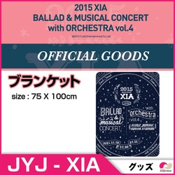 2015 XIA BALLAD & MUSICAL CONCERT with ORCHESTRA vol.4 ★ブランケット BLANKET ★OFFICIAL GOODS
