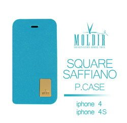 MOLDIR Square saffiano P.case iPhone 4/4S
