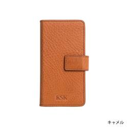 KSK手帳型ケースロゴ iPhoneX(コバルト/レッド/キャメル/ブラック)