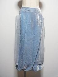 Jane Marple(ジェーンマープル)/Dans le Sulon/シフォンレイヤードベロアロングスカート