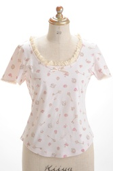 Talking Rose Tee  Color:Ivory