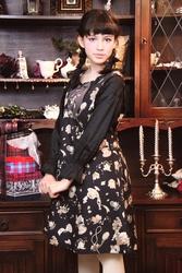 【direct sales】Antique Alice Flare Dress  Color: Black