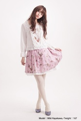 【direct sales】Antique Alice Skirt  color: Strawberry pink