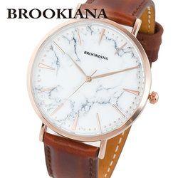 ブルッキアーナ BROOKIANA ROUND SLIM MARBLE BA3102-RSWLBR レディース 時計 腕時計 クオーツ
