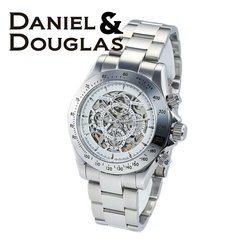 ダニエルダグラス DANIEL&DOUGLAS ダニエル ダグラス DD8802-WHSV メンズ 時計 腕時計 自動巻き オートマチック スケルトン