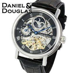 ダニエルダグラス DANIEL&DOUGLAS ダニエル ダグラス DD8806-BK メンズ 時計 腕時計 自動巻き オートマチック スケルトン