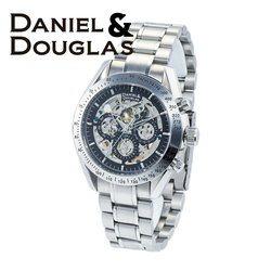 ダニエルダグラス DANIEL&DOUGLAS ダニエル ダグラス DD8807-BKSV メンズ 時計 腕時計 自動巻き オートマチック スケルトン