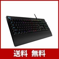 Logicool ロジクール PRODIGY ゲーミング キーボード G213ブラック メンブレン RGB パームレスト 耐水性 PUBG JAPAN