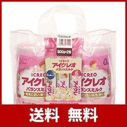 アイクレオのバランスミルク 800g×2缶セット(サンプル付き)