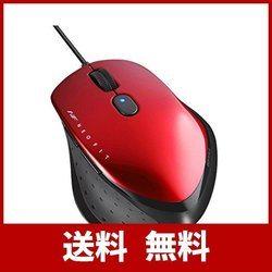 BUFFALO 有線 BlueLED 5ボタン ネオフィットマウス Mサイズ レッド BSMBU515MRD