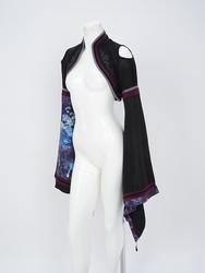 月光水連柄着物袖シュラグ