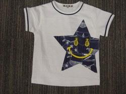 デニムパッチワークプリントTシャツ