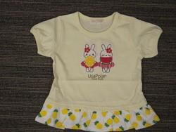 ウサギアップリケ裾フリルTシャツ