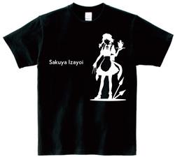 東方 シルエット 十六夜咲夜 Aタイプ 半袖Tシャツ / Toho silhouette Sakuya Izayoi Short-sleeved t-shirt black S size
