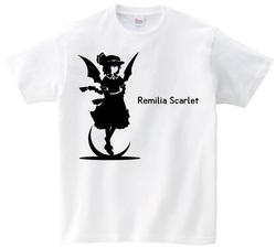 東方 シルエット レミリア・スカーレット Aタイプ 半袖Tシャツ / Toho silhouette Remilia Scarlet Short-sleeved t-shirt white S size