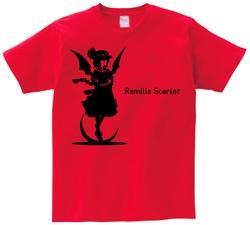 東方 シルエット レミリア・スカーレット Aタイプ 半袖Tシャツ / Toho silhouette Remilia Scarlet Short-sleeved t-shirt red S size