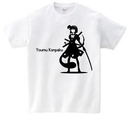 東方 シルエット 魂魄妖夢 Aタイプ 半袖Tシャツ / Toho silhouette Youmu Konpaku Short-sleeved t-shirt white S size