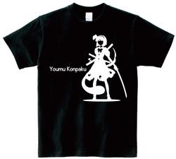 東方 シルエット 魂魄妖夢 Aタイプ 半袖Tシャツ / Toho silhouette Youmu Konpaku Short-sleeved t-shirt black S size