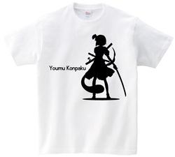 東方 シルエット 魂魄妖夢 Bタイプ 半袖Tシャツ / Toho silhouette Youmu Konpaku Short-sleeved t-shirt white S size