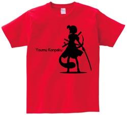 東方 シルエット 魂魄妖夢 Bタイプ 半袖Tシャツ / Toho silhouette Youmu Konpaku Short-sleeved t-shirt red S size