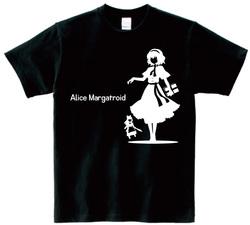 東方 シルエット アリス・マーガトロイド Aタイプ 半袖Tシャツ / Toho silhouette Alice Margatroid Short-sleeved t-shirt black S size
