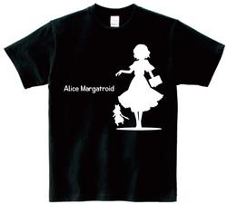 東方 シルエット アリス・マーガトロイド Bタイプ 半袖Tシャツ / Toho silhouette Alice Margatroid Short-sleeved t-shirt black S size