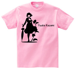 東方 シルエット 風見幽香 Aタイプ 半袖Tシャツ / Toho silhouette Yuuka Kazami Short-sleeved t-shirt pink S size