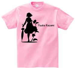 東方 シルエット 風見幽香 Bタイプ 半袖Tシャツ / Toho silhouette Yuuka Kazami Short-sleeved t-shirt pink S size