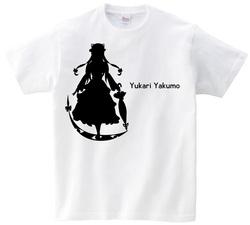 東方 シルエット 八雲紫 Bタイプ 半袖Tシャツ / Toho silhouette Yukari Yakumo Short-sleeved t-shirt white S size
