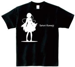 東方 シルエット 古明地さとり Bタイプ 半袖Tシャツ / Toho silhouette Satori Komeiji Short-sleeved t-shirt black S size
