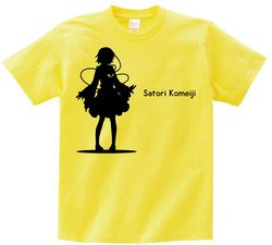 東方 シルエット 古明地さとり Bタイプ 半袖Tシャツ / Toho silhouette Satori Komeiji Short-sleeved t-shirt yellow S size