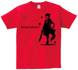 東方 シルエット 犬走椛 Aタイプ 半袖Tシャツ / Toho silhouette Momiji Inubashiri Short-sleeved t-shirt red S size
