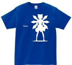 東方 シルエット チルノ Bタイプ 半袖Tシャツ / Toho silhouette Cirno Short-sleeved t-shirt blue S size