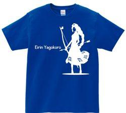 東方 シルエット 八意永琳 Aタイプ 半袖Tシャツ / Toho silhouette Eirin Yagokoro Short-sleeved t-shirt blue S size
