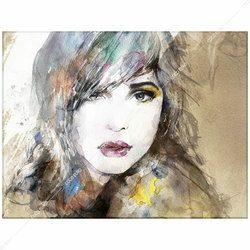 絵画 壁掛け PLEXIGLAS Aquarelle Portrait1  SIZE mm 600*800   アート 装飾 壁 絵 ココ コブラアート 正規品 高級 フレームレス