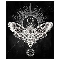 絵画 大型 高級 PLEXIGLAS Hawk moth  SIZE/mm 900*1070   「希少なSymbolArtで神秘的なひと時を。」シンボル 装飾 絵 壁絵 ラウンジ VIP 【ギャラリー 正規品 限定】【店頭受取対応商品】