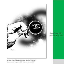 Life Style TAL メゾンブランドアート D001 W500mm H500mm  オリジナル コーディネート クレイグガルシア  ※ご注文時【フレームカラー】額縁色 【マットカラー】を忘れずにお選びください。