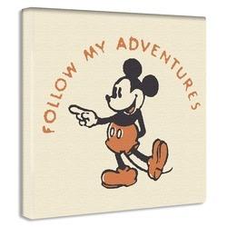 ミッキーマウス ファブリックパネル かわいいキャンバス仕上げ 壁掛け 壁飾り プレゼント【店頭受取対応商品】