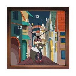 掛け時計 夢を抱える  おしゃれでかわいい掛け時計  リビング 玄関 キッチン に飾る 誕生日プレゼントやお祝い用ギフトに kuko(くこ) 国産 ハンドメイド(バク)
