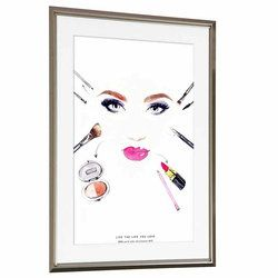 絵画 インテリアポスター おしゃれ 絵 壁掛け 45cm x 34cm メイクアップ makeup アートフレーム アートパネル 額入り 額付き アンティーク