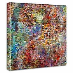 モザイクアート ファブリックパネル 簡単壁飾り おしゃれでリーズナブルな壁装飾 壁掛け 絵 おしゃれ インテリア アートパネル