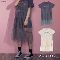 Tシャツ&レースワンピースSET