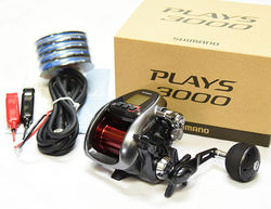 Shimano PLAYS 3000 With PE Line #4(44lb)-400m Electric Reel From Japan