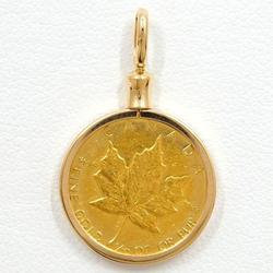 中古 メイプルリーフ 1/10oz 1/10オンス 総重量約4.1g コイン 金貨 K24YG K18YG ペンダントトップ 地金 中古ジュエリー