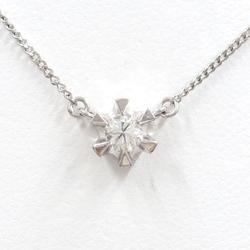 中古 ネックレス PT850 プラチナ ダイヤ 0.24