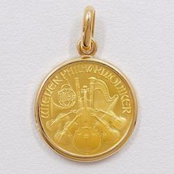 中古 ペンダントトップ ウィーンハーモニー 1/10oz 1/10オンス 総重量約3.9g コイン 金貨 K24YG K18YG 地金