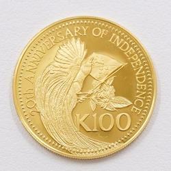 中古 その他のアイテム パプアニューギニア 独立20周年記念 100キナ 約11.9g コイン 金貨 K21.6YG 地金