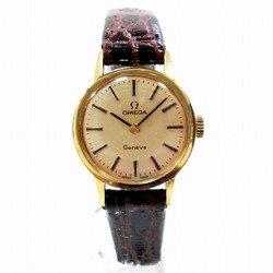 中古 オメガ ジュネーブ 時計 腕時計 手巻き レディース ゴールド文字盤